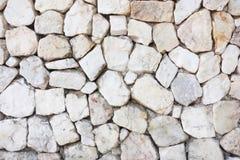 Struttura di pietra bianca del fondo della ghiaia Fotografie Stock Libere da Diritti