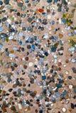 Struttura di pietra ceramica decorativa del fondo Fotografie Stock Libere da Diritti