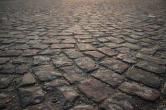 Struttura di pietra cubica della strada immagine stock