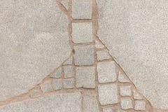 Struttura di pietra del pavimento delle vecchie vie fotografia stock
