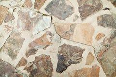 Struttura di pietra del pavimento mediterraneo Fotografie Stock Libere da Diritti
