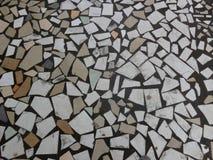 Struttura di pietra fatta a mano della toppa Fotografie Stock