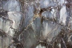 Struttura di pietra mable del nero scuro fotografie stock