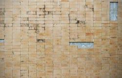 Struttura di pietra marrone chiaro del muro di mattoni Fotografie Stock