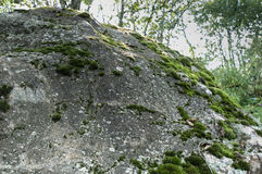 Struttura di pietra muscosa immagine stock