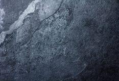 Struttura di pietra nera del fondo dell'ardesia Fotografia Stock