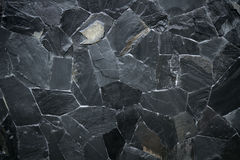 Struttura di pietra nera del modello Fotografia Stock Libera da Diritti