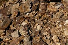 Struttura di pietre rotte Fotografia Stock