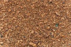 Struttura di pietre rotte rossa Immagine Stock