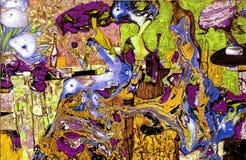 Struttura di pittura a olio Roman Nogin autore conversazione del ` s delle donne del ` di serie ` la versione del ` s dell'autore immagini stock libere da diritti