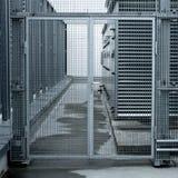 Porta d'acciaio Fotografia Stock Libera da Diritti