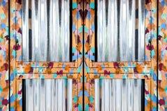 Struttura di porta d'acciaio della pittura a olio brillante immagini stock libere da diritti