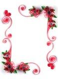 Struttura di Quilling con il fiore di carta Immagini Stock