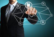 Struttura di rete sociale immagini stock libere da diritti