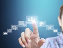 Struttura di rete sociale disponibila Immagine Stock Libera da Diritti