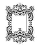 Struttura di Rich Baroque Mirror Ornamenti complessi ricchi di lusso francesi di vettore Decorazione reale vittoriana di stile royalty illustrazione gratis