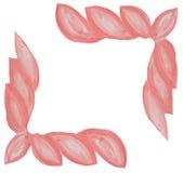 Struttura di rosa dell'acquerello sotto forma delle foglie su un fondo bianco illustrazione di stock