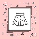 Struttura di rosa di Mini Icon Thin Line In della gonna Fotografia Stock