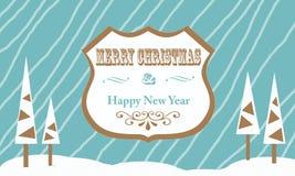 Struttura di saluti di Natale Immagine Stock Libera da Diritti