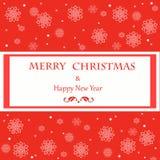 Struttura di saluti di Natale Fotografie Stock Libere da Diritti
