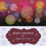 Struttura di saluti di Natale Fotografie Stock