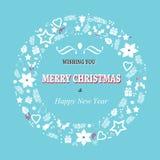 Struttura di saluti di Natale Fotografia Stock