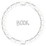 Struttura di scarabocchio del libro Fotografia Stock Libera da Diritti