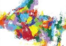 Struttura di schizzo di astrattismo Linee variopinte digitalmente disegnate Struttura variopinta materiale illustrativo moderno P fotografia stock