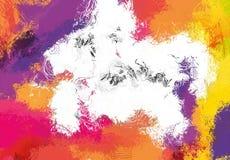 Struttura di schizzo di astrattismo Linee variopinte digitalmente disegnate Struttura variopinta materiale illustrativo moderno P immagini stock