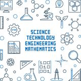 Struttura di scienza, di tecnologia, di ingegneria e di matematica royalty illustrazione gratis