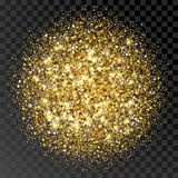 Struttura di scintillio dell'oro Fondo dorato dello sparcle Particelle ambrate Contesto di Luxory Fotografie Stock Libere da Diritti
