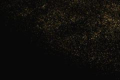Struttura di scintillio dell'oro isolata sul nero Colore ambrato delle particelle Priorità bassa celebratoria Esplosione dorata d illustrazione di stock