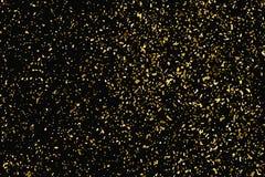 Struttura di scintillio dell'oro isolata sul nero Colore ambrato delle particelle Priorità bassa celebratoria Esplosione dorata d illustrazione vettoriale