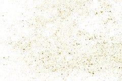 Struttura di scintillio dell'oro su bianco Fotografie Stock Libere da Diritti