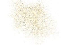 Struttura di scintillio dell'oro su bianco Immagine Stock