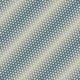 Struttura di semitono diagonale di vettore Modello senza cuciture geometrico dell'oro e del blu illustrazione vettoriale
