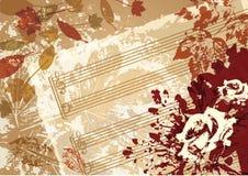 Struttura di stile del fondo di vettore di musica di autunno retro illustrazione vettoriale