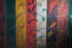 Struttura di superficie di legno variopinta Fotografia Stock