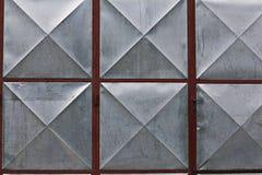 Struttura di superficie geometrica del metallo Immagini Stock