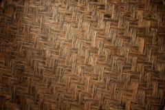 Struttura di tessuto di bambù naturale Immagini Stock