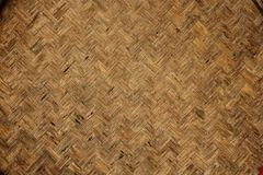 Struttura di tessuto di bambù naturale Fotografia Stock Libera da Diritti