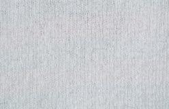 Struttura di tessuto di lana bianco Immagine Stock Libera da Diritti