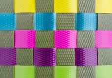 Struttura di tessuto di plastica Fotografie Stock