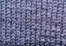 Struttura di tessuto tricottato Fili incagliati Panno dei vestiti caldi di inverno Immagini Stock