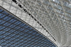 Struttura di tetto d'acciaio Immagini Stock Libere da Diritti