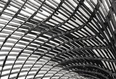 Struttura di tetto del tessuto e di legno Immagine Stock