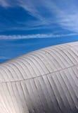 Struttura di tetto del tessuto e di legno Fotografia Stock Libera da Diritti