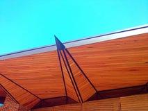 Struttura di tetto di legno moderna Fotografia Stock