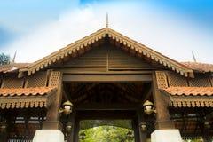 Struttura di tetto tradizionale della Malesia Fotografia Stock Libera da Diritti