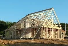 Struttura di un in costruzione domestico suburbano Immagine Stock Libera da Diritti